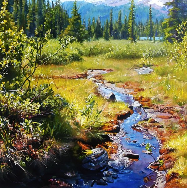 "SOLITARY BROOK 40"" x 40"""